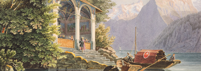 'Tellsplatte, Lake Lucerne' mid-19th century watercolour Hammer price: £320