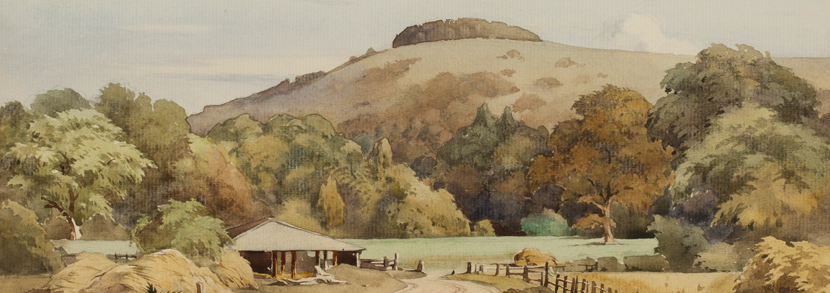 Charles William Taylor 'Chanctonbury Sussex' watercolour Hammer price: £100