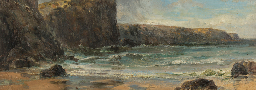 Edwin Hayes Coastal View oil on canvas Hammer price: £400