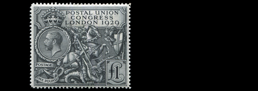 Great Britain 1929 PUC �1 Black