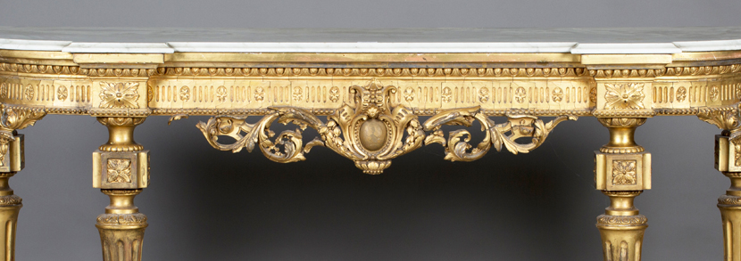 late Victorian Neoclassical Revival giltwood and gesso console table