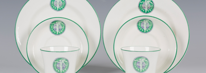 Women's Social & Political Union rare bone china trios