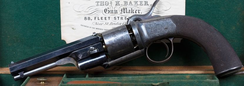 60 bore six shot percussion revolver by Thomas K. Baker