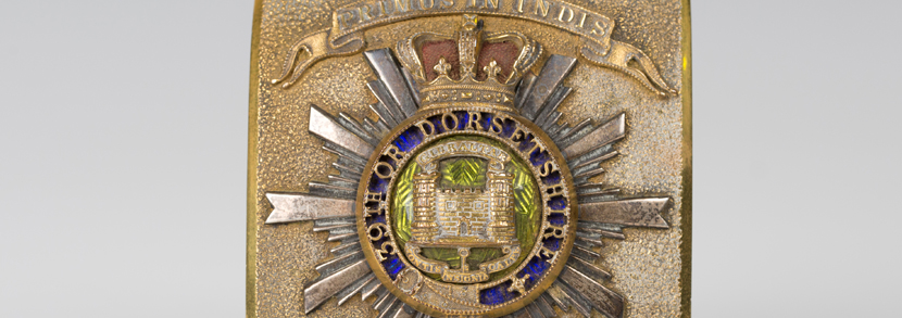 office''s shoulder belt plate of the 39th or Dorsetshire Regiment, circa 1850