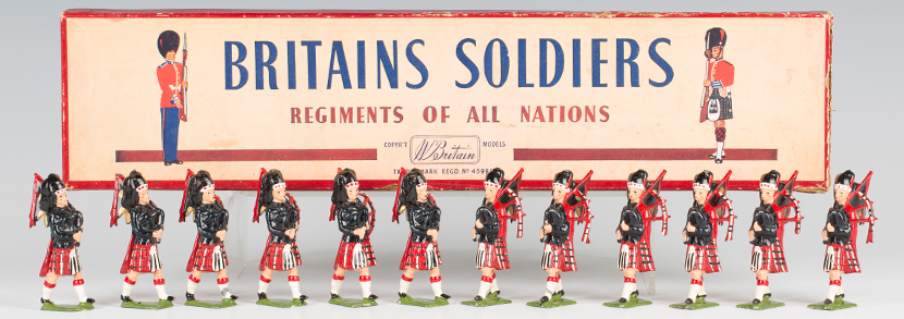 Britains No. 2010 set of eight Airborne Infantry, boxed