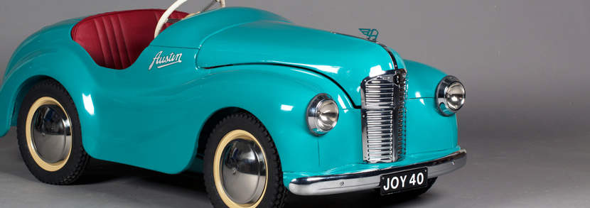 Austin J40 pedal car, finished in turquoise