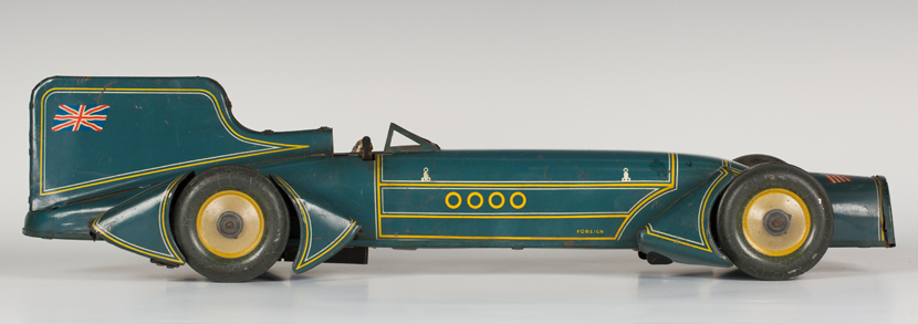 Gunthermann tinplate clockwork Captain Campbell's Bluebird land speed record car