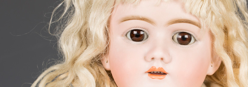 Max Handwerck bisque head doll, impressed 'DEP', with blonde wig