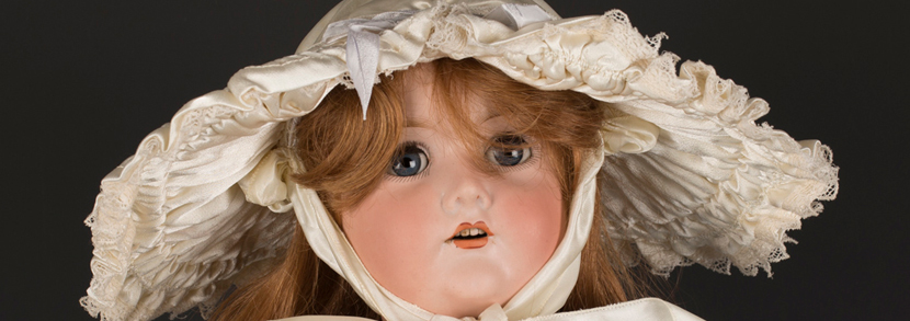 C.M. Bergmann & Waltershausen bisque porcelain head doll