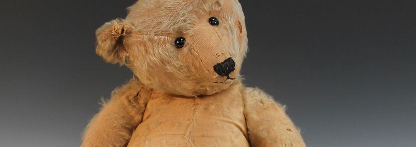 A mohair wood straw filled hump back growler teddy bear, possibly Steiff