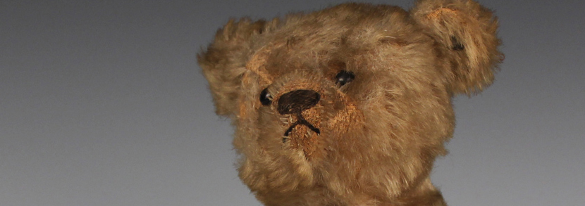 An early Steiff mohair clockwork teddy bear with button in left ear