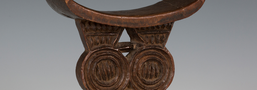 African Shona carved hardwood tribal headrest, probably 19th century