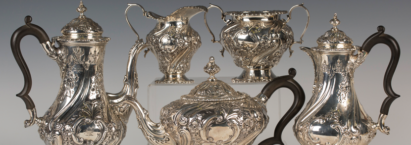 An Edwardian silver tea service by Charles Clement Pilling Hammer price: £1,150
