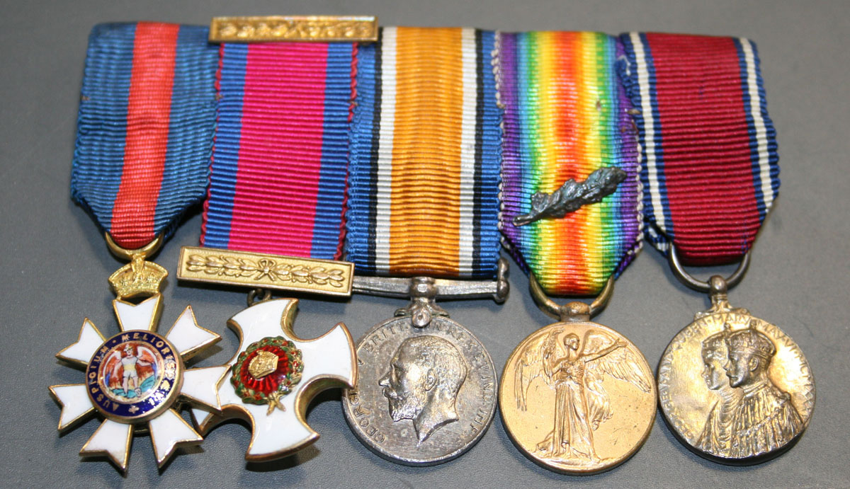A group of five dress miniature medals awarded to Colonel C W G