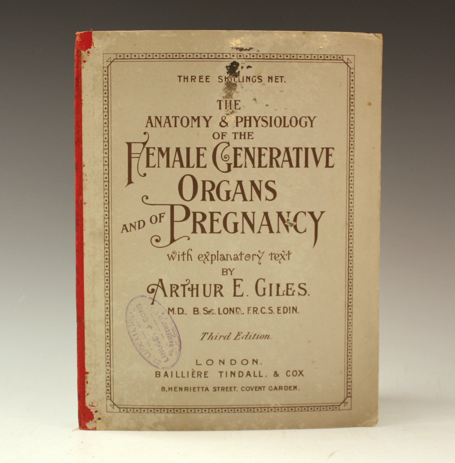 GILES, Arthur E. Anatomy and Physiology of the Female Generative ...