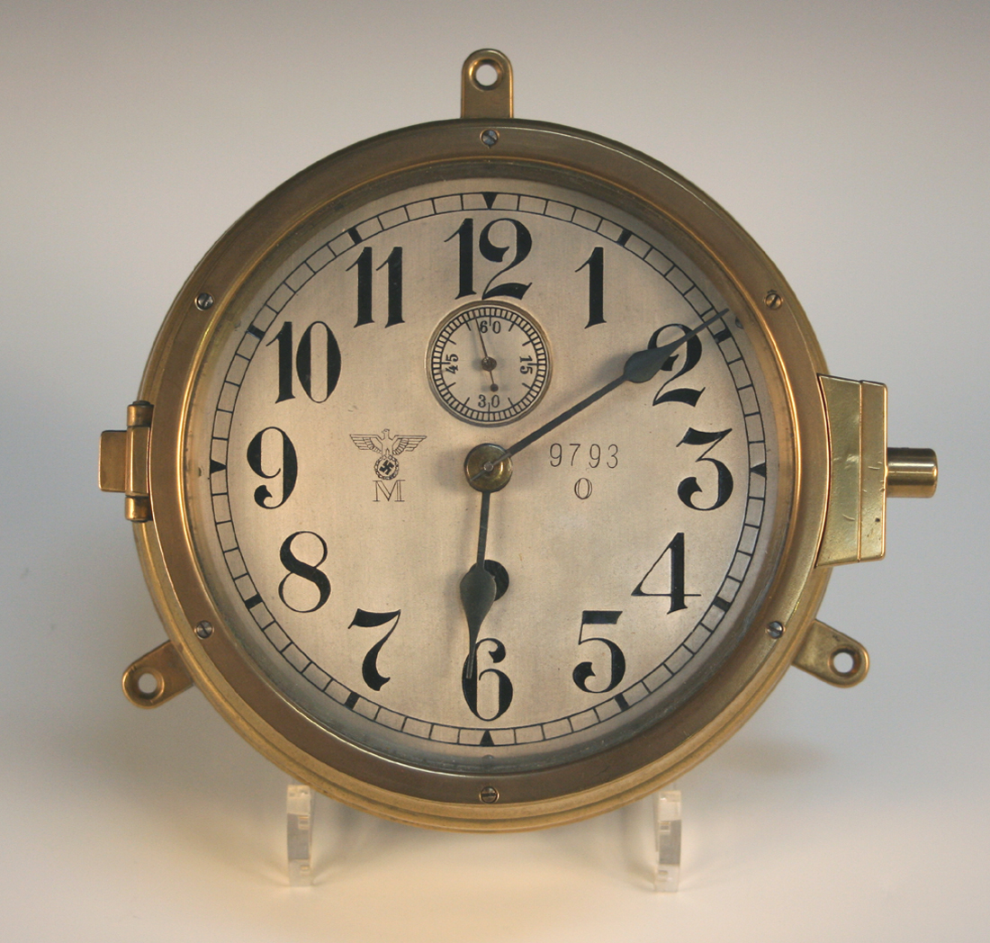The Second Most Famous Clock In The World: A Second World War German Submarine Brass Cased Bulkhead