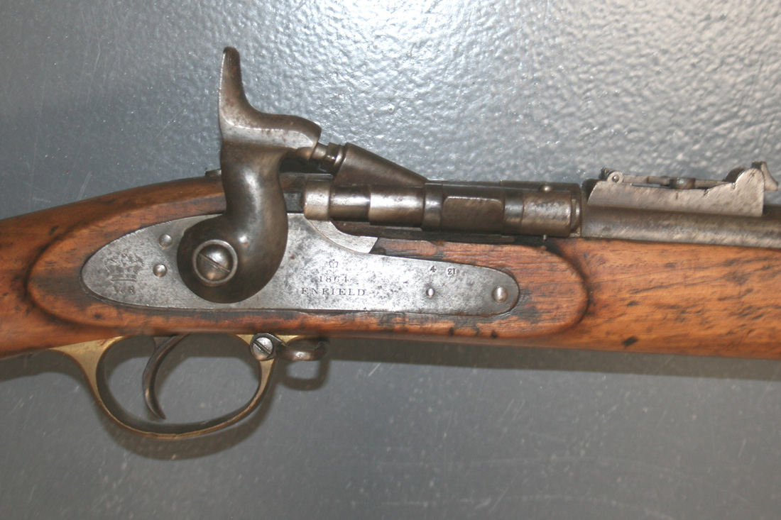 A  577 Snider Enfield three band military rifle, the barrel
