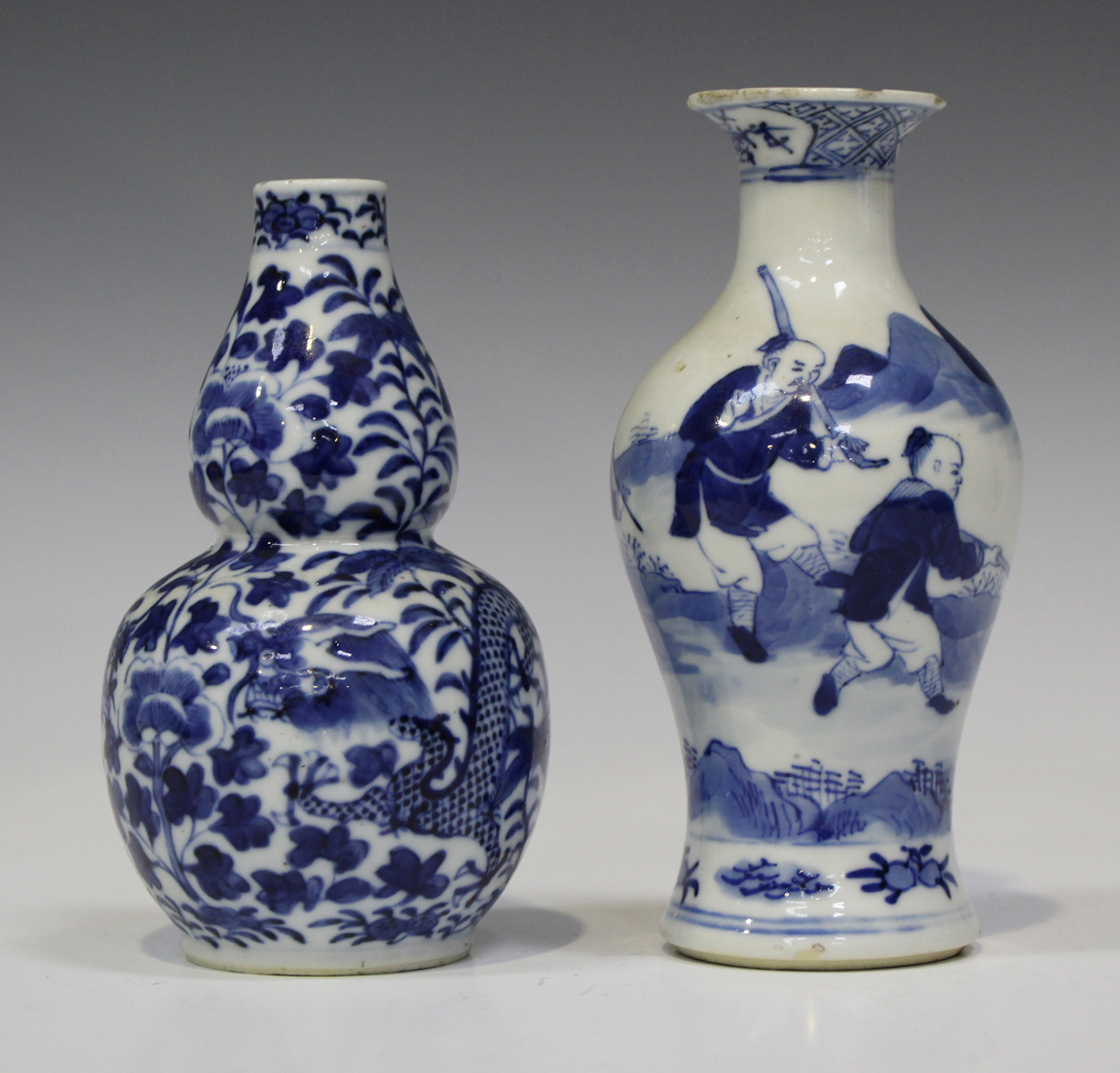 Blue And White Double Gourd Shaped