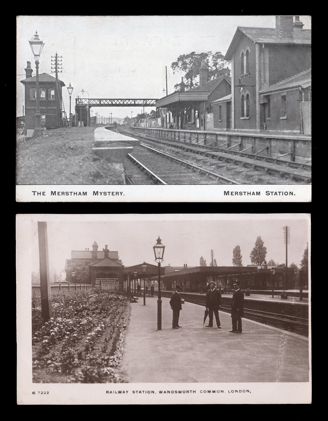 A group of 8 postcards of L B S C  railway stations