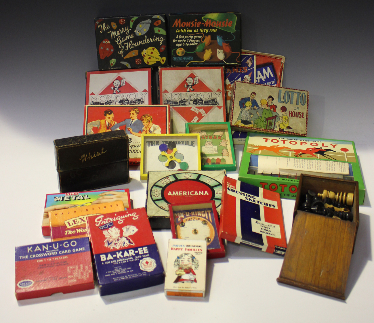 A Collection Of Board And Other Games Including Waddingtons Cluedo