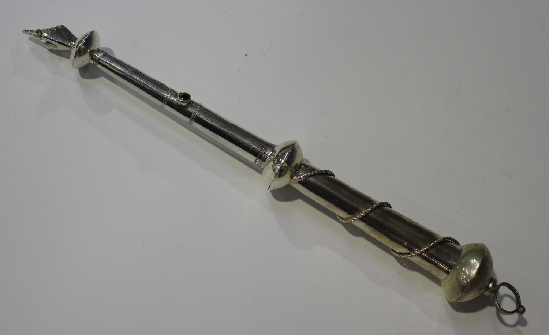 A Russian silver yad (Torah pointer), 84 zolotnik, the