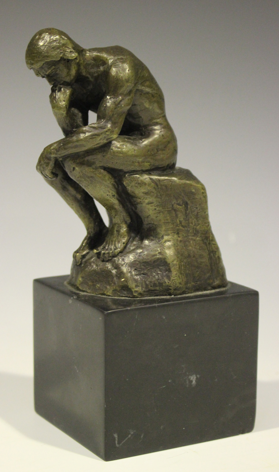 After Auguste Rodin - The Thinker, a modern brown patinated cast ...