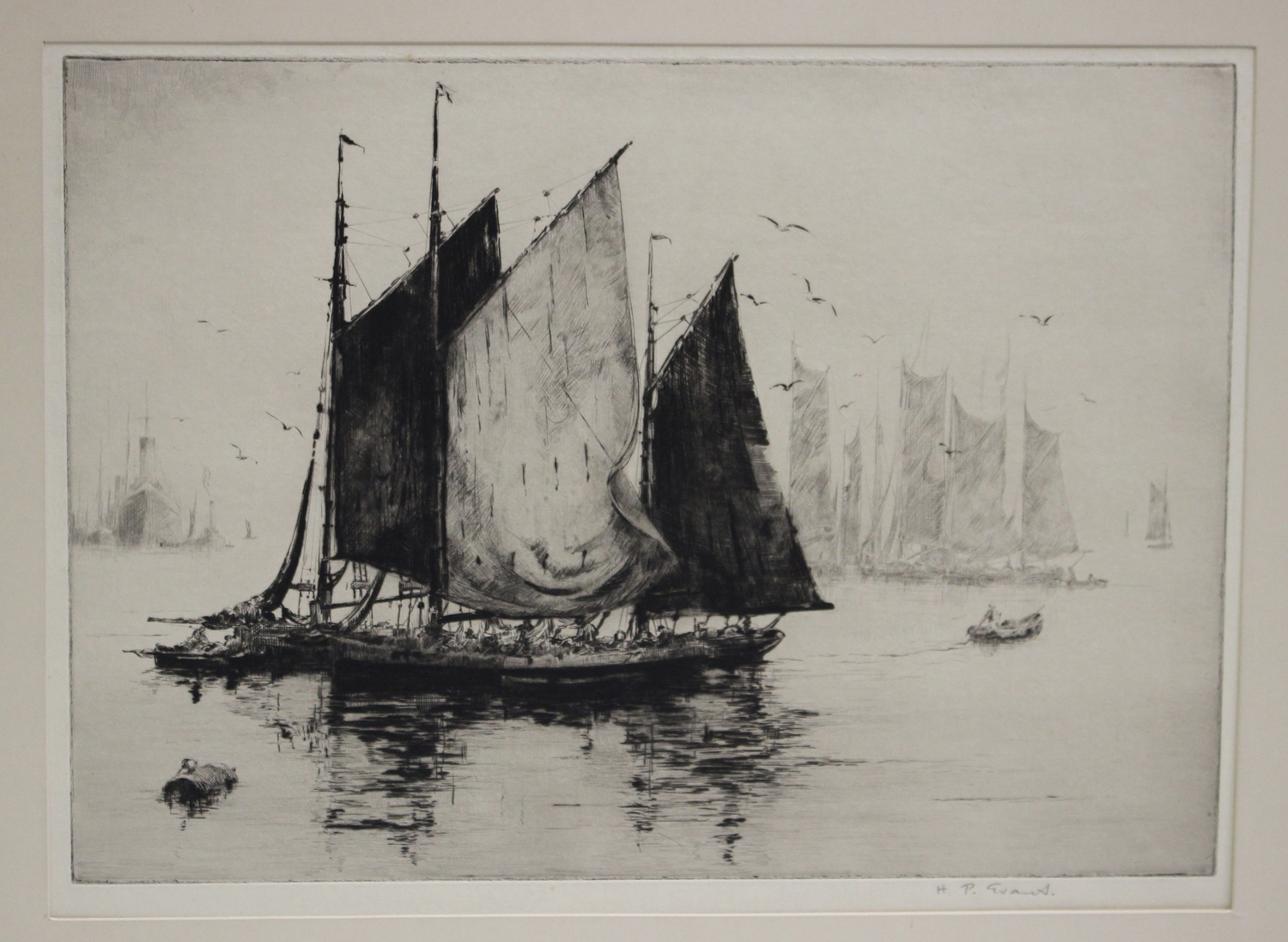Joseph Cook Sister Ships 20th Century Drypoint
