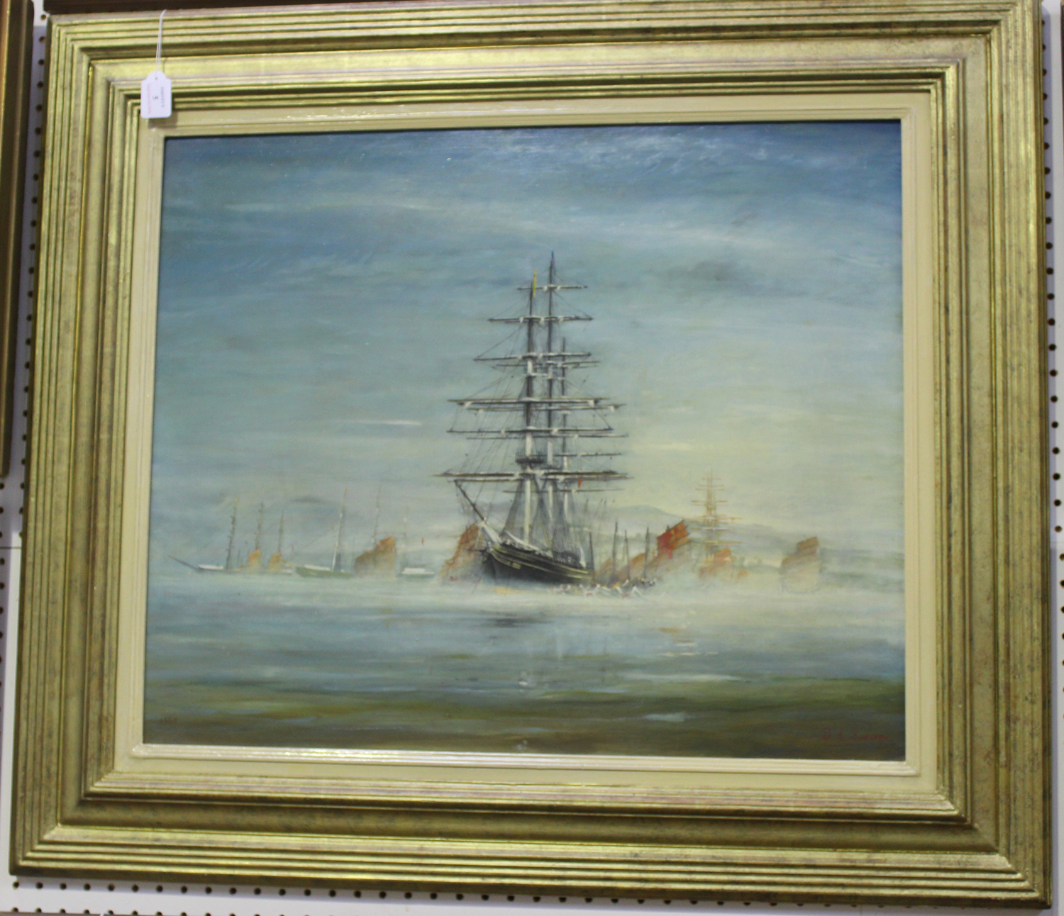 Donald Sinclair Swan - Tea Clipper with Chinese Junks in a