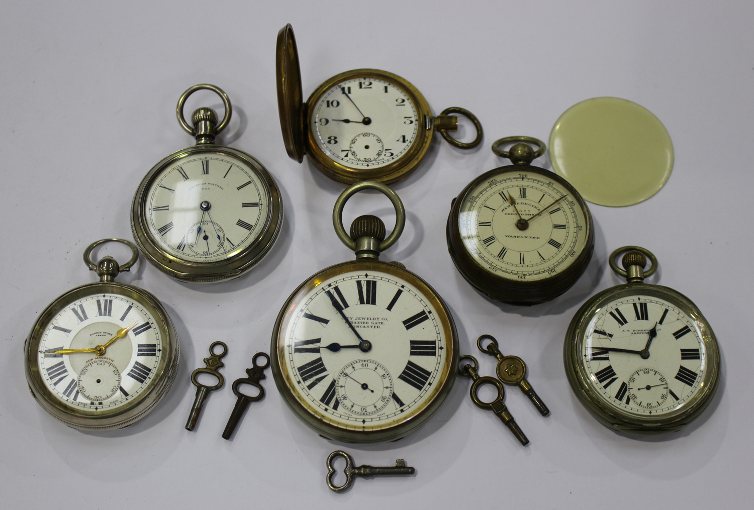 Antique Pocket Watches Imported From Abroad 0s Waltham Pocket Watch Porcelain Dial 1013